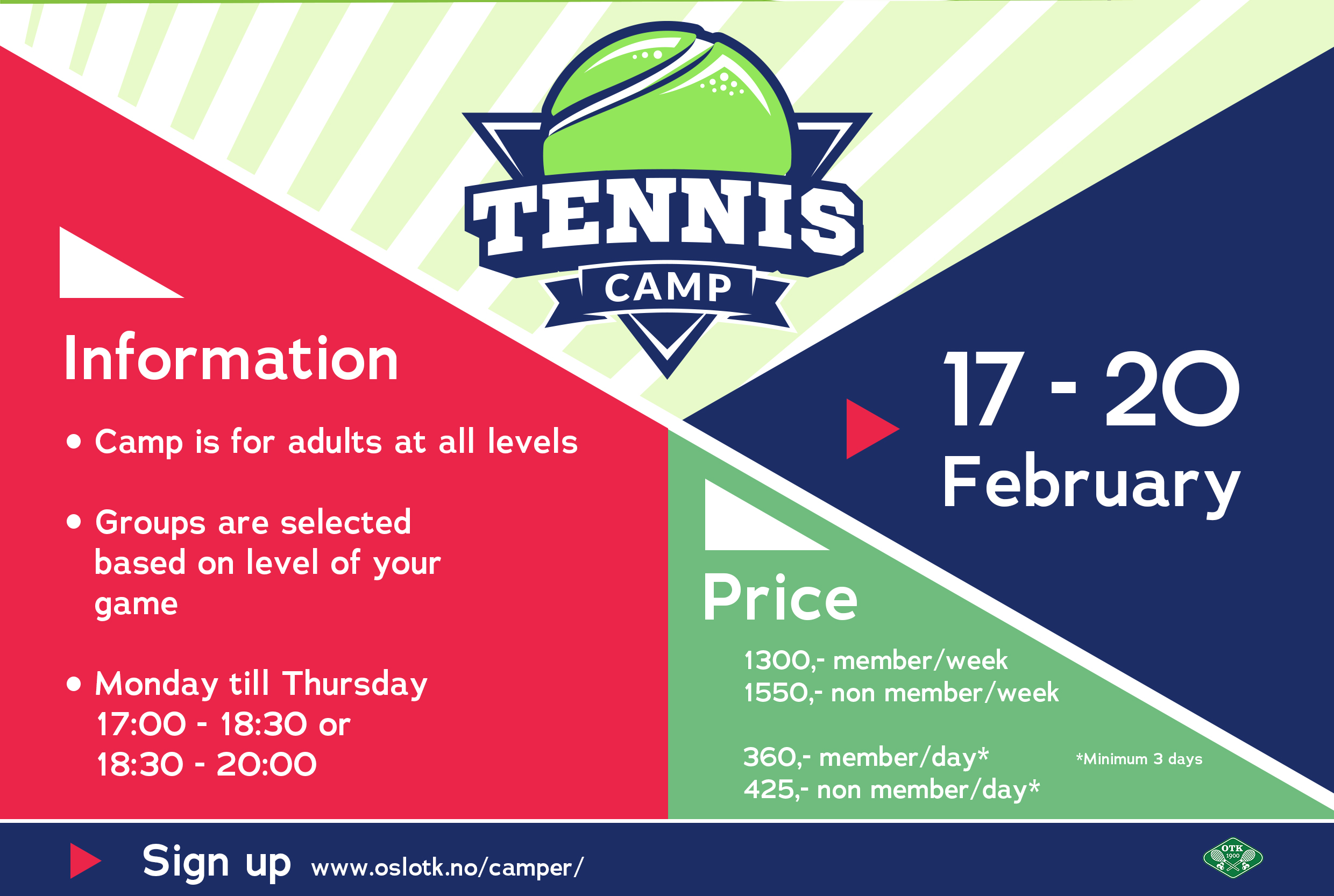Tennis camp week 8